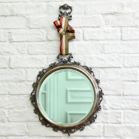 メダル型 ウォールミラー