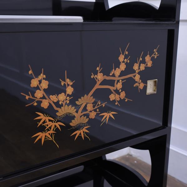 輪島塗 金蒔絵茶棚
