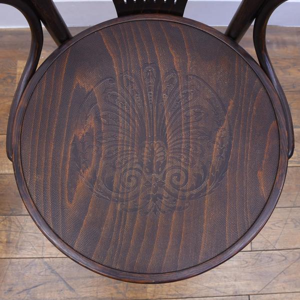 英国アンティークスタイル ベントウッド回転椅子