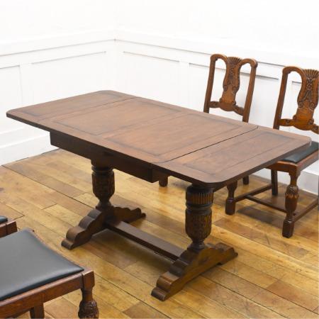 英国アンティーク ドローリーフテーブル