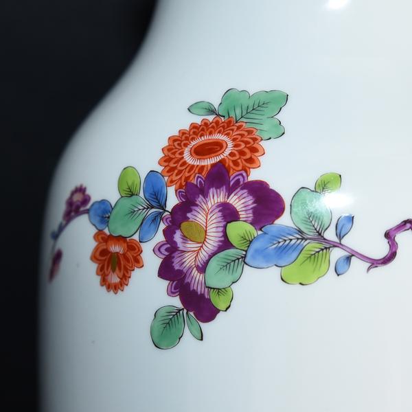Meissen 花柄シノワズリ花瓶