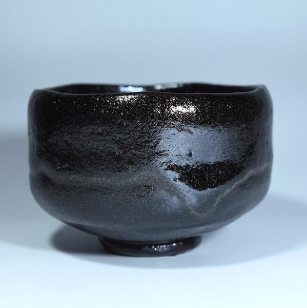 玉藻焼 黒茶碗