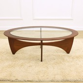 Oval Glass Table 8050