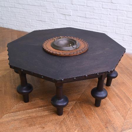 スパニッシュカントリー 八角形ローテーブル