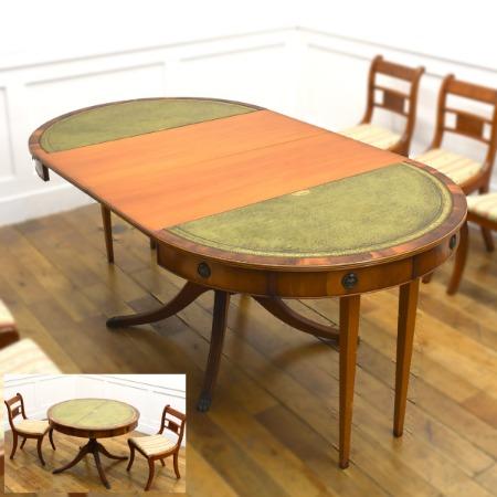 英国 リージェンシー様式 エクステンションテーブル