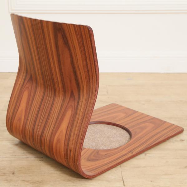 #28412 藤森 健次 ブラジリアンローズウッド 座椅子4脚セット コンディション画像 - 4