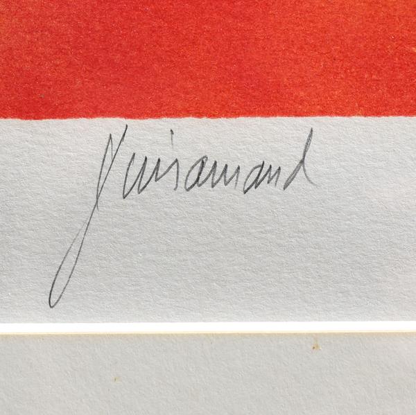 ポール・ギヤマン「朝のソナタ」リトグラフ