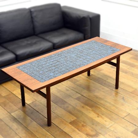 北欧デンマーク製 ブラジリアンローズウッド タイルトップテーブル