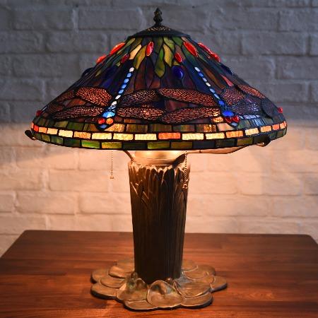 ステンドグラス ティファニーランプ3灯