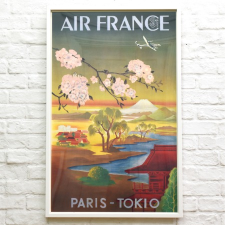 Air France / Paris Tokio 額装