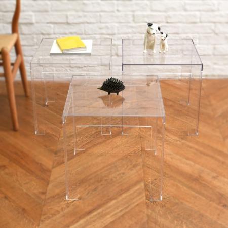 JOLLY クリスタル サイドテーブル 3点セット