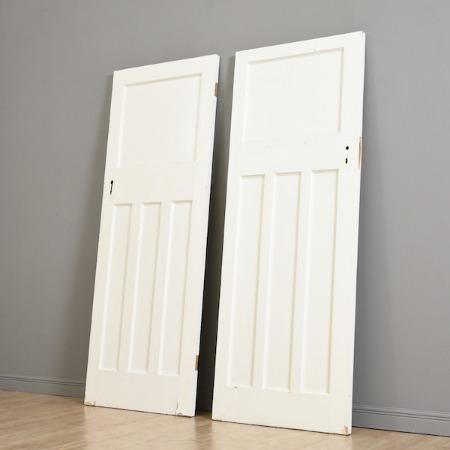 英国アンティーク シャビーシック 木製ドア2枚セット