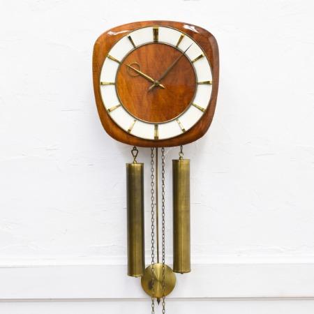 イギリス ヴィンテージ 分銅式 壁掛け振り子時計