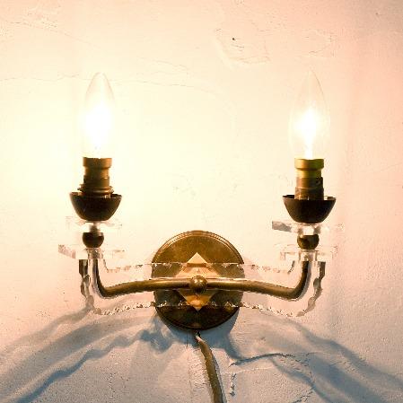ヴィンテージ アールデコ ブラケットランプ