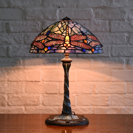 ステンドグラス ティファニーランプ2灯