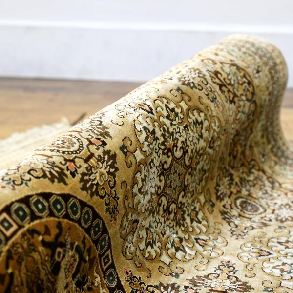 シルク 手織り 絨毯