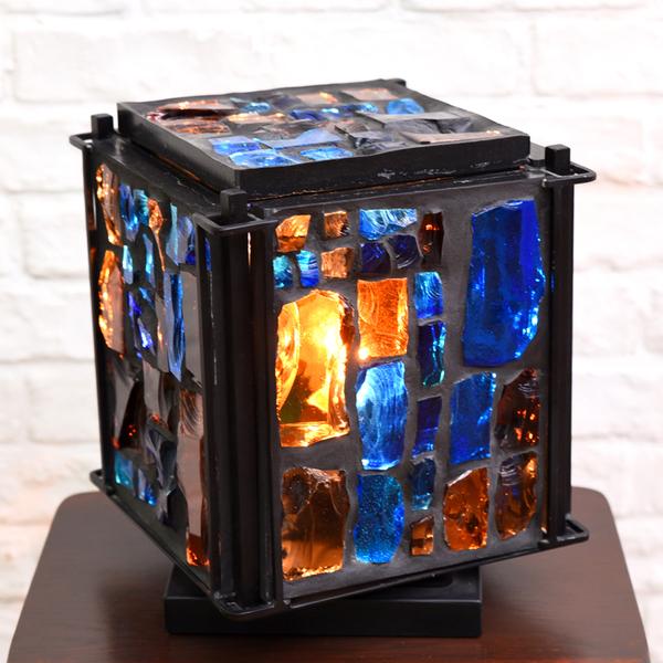 三浦啓子 ステンドグラス テーブルランプ