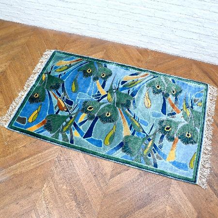 龍村美術織物 シルク100%中国段通