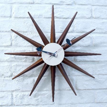 Sunburst Clock ウォルナット