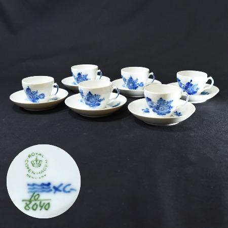 ブルーフラワーカーブ / コーヒーカップ&ソーサー 6客