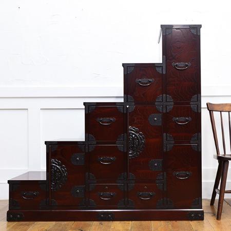 筑後民芸家具 階段箪笥