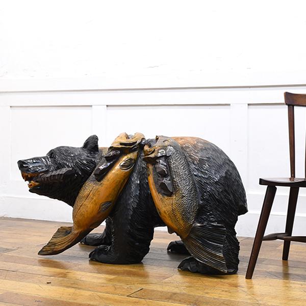 木彫り熊置物