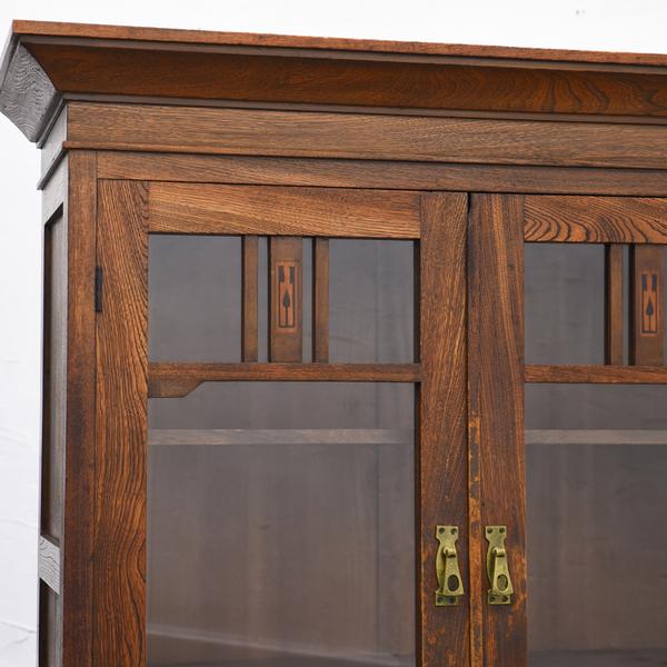 大正レトロ 古い木製 食器棚