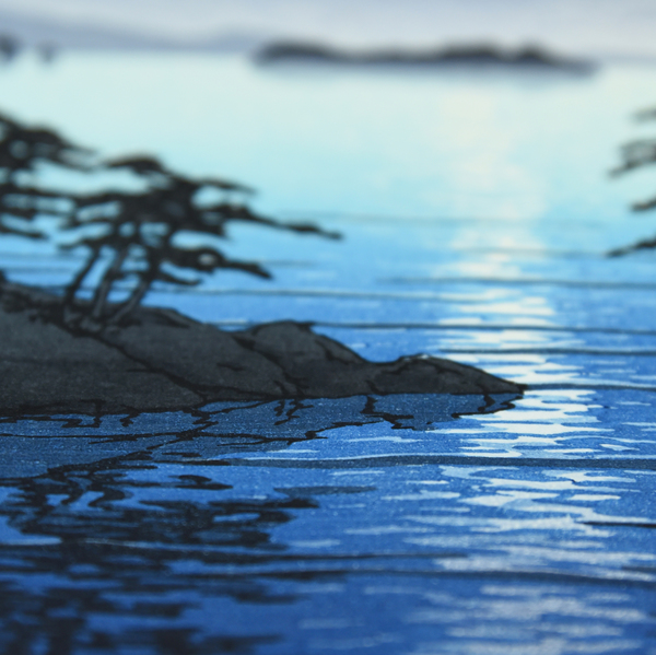 川瀬巴水「松島双子島」木版画