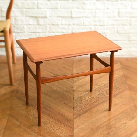 チーク材 ヴィンテージ サイドテーブル