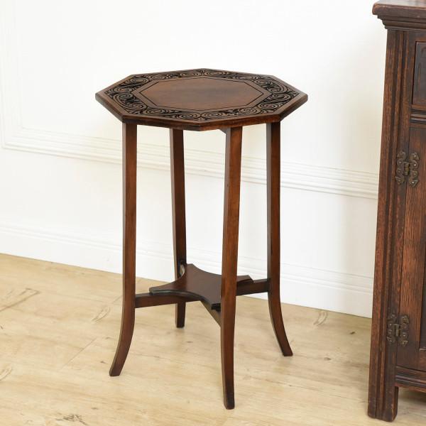 英国製 アンティーク ヘキサゴンテーブル
