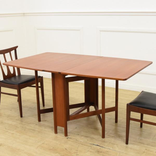 A.H.McINTOSH ドロップリーフ ゲートレッグテーブル