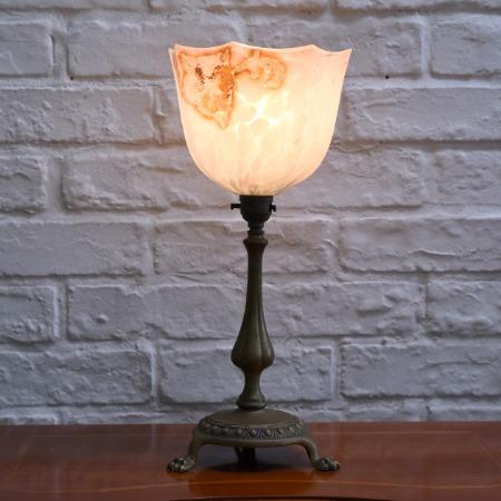 英国製 ヴァセリンガラス テーブルランプ