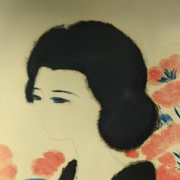 アンドレ・ブラジリエ「バラ色の夢」リトグラフ