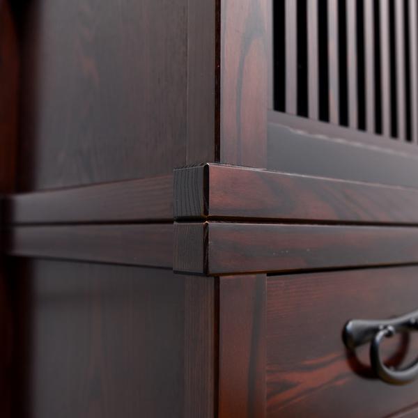 水屋箪笥型栗材食器棚