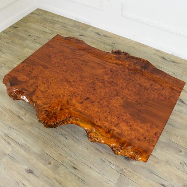 栃材一枚板 泡杢 座卓