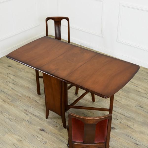 英国アンティーク ドロップリーフ ゲートレッグテーブル