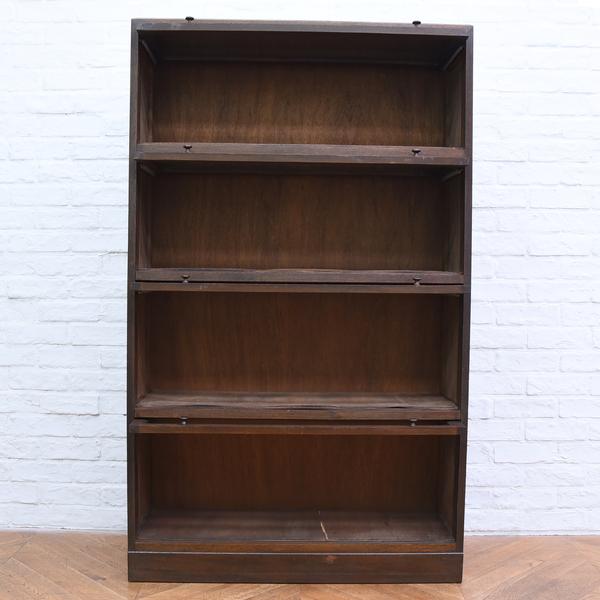 大正レトロ 古い木製スタッキングブックケース