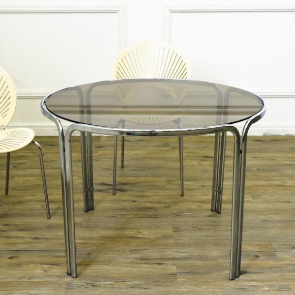 ヴィンテージ ガラスラウンドテーブル
