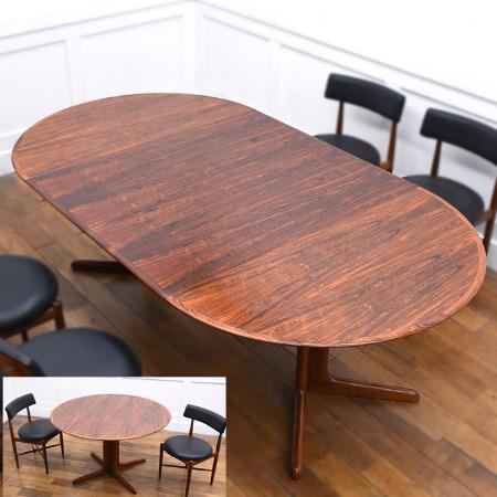 Dyrlund ブラジリアンローズウッド 拡張式 ダイニングテーブル