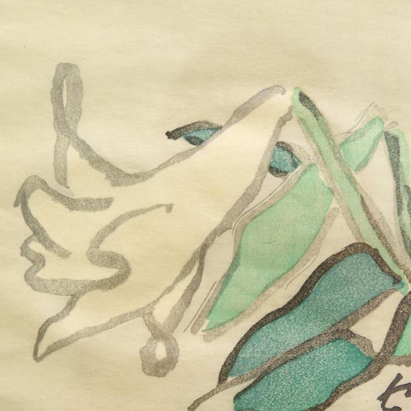 熊谷守一 百合版画