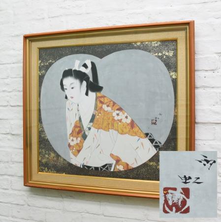 小川雨虹「待春」額装