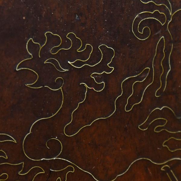 真鍮象嵌 太鼓型火鉢