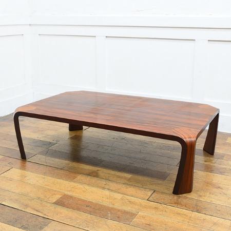 天童木工 ブラジリアンローズウッド バチ脚 座卓