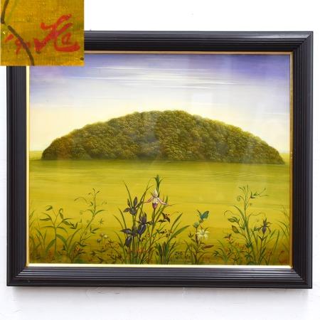 樺山祐和 1990年 [ 残された森 ] 油彩
