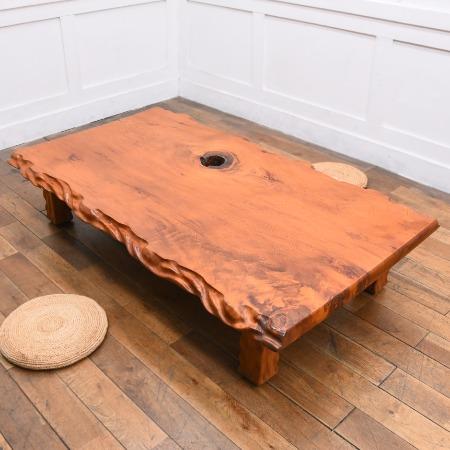 世界遺産 屋久杉 一枚板座卓