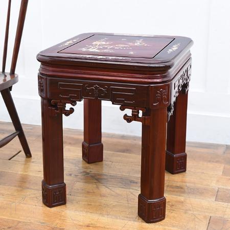 唐木紫檀 螺鈿細工 サイドテーブル