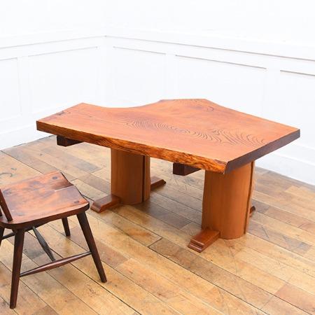 欅無垢材 一枚板 テーブル