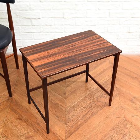 ブラジリアンローズウッド材 ヴィンテージ サイドテーブル