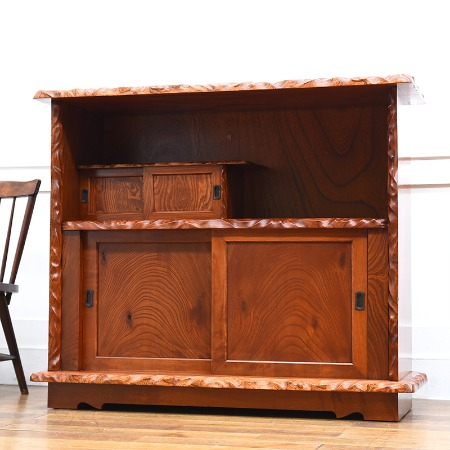 欅無垢材 茶棚
