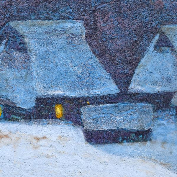 高越甚「雪の里」日本画